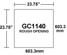 GC1140 Inlet Rough Opening