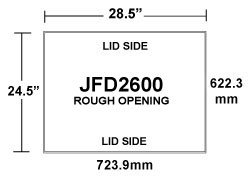 JFD2600 Two-Way Inlet Rough Opening