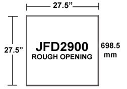 JFD2900 Insulated Inlet Rough Opening