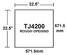 TJ4200 TopJet 4-Way Inlet Rough Opening