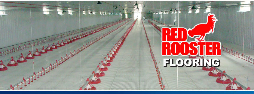Non-Overlapping Red Rooster Poultry Slat Flooring (NOL)