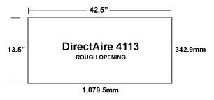 DirectAire 4113 European Inlet Rough Opening
