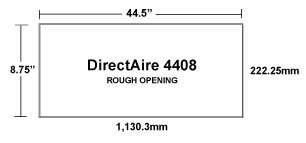 DirectAire 4408 Recessed Inlet Rough Opening