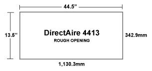 DirectAire 4413 Inlet Rough Opening