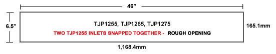 TJP1255, TJP1265, TJP1275 TopJet Gravity Wall Inlets