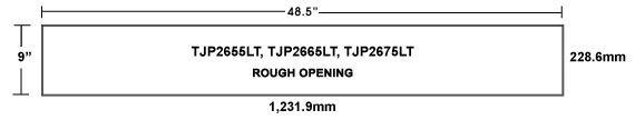 TJP2655LT TopJet Gravity Wall Inlets
