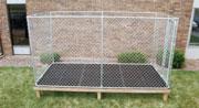 Double L Dog Kennel Flooring Installation - Step 4