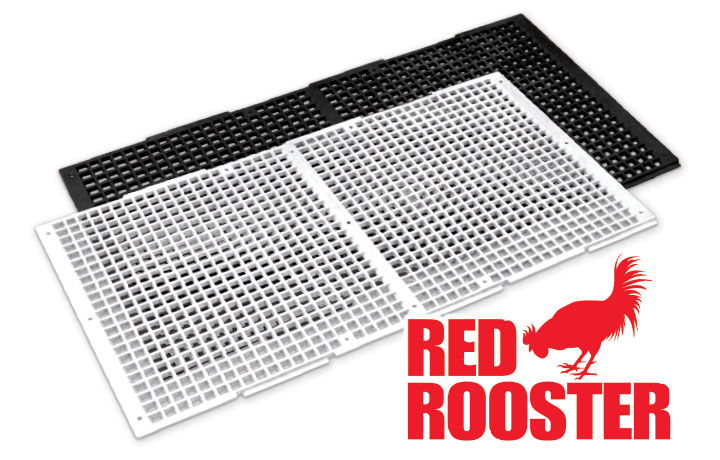 NOL Non-Overlapping Red Rooster 4 Runner Poultry Flooring