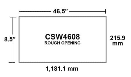 CSW4608 Ceiling Sidewall Inlet-opening