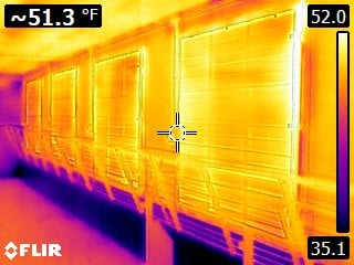 FLIR Photo at same finishing site with Shutter Blank